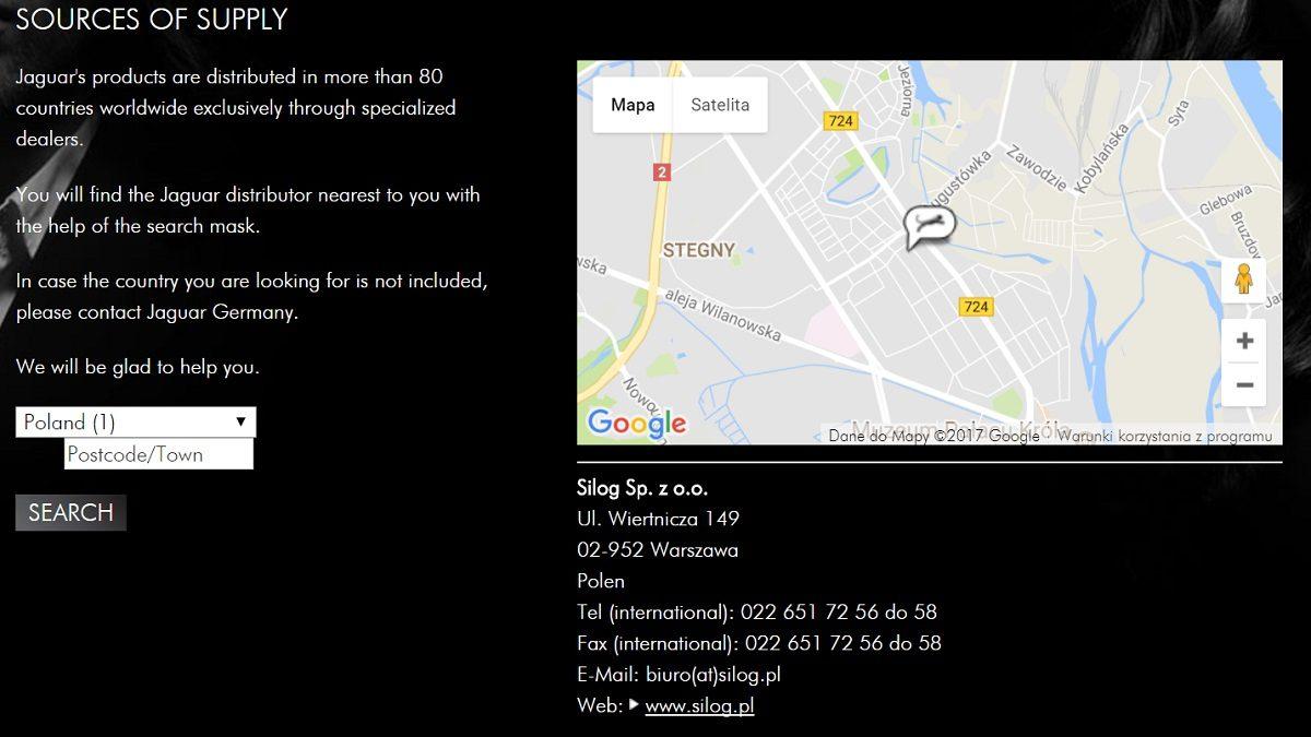 Screen z oficjalnej strony Jaguar Solingen